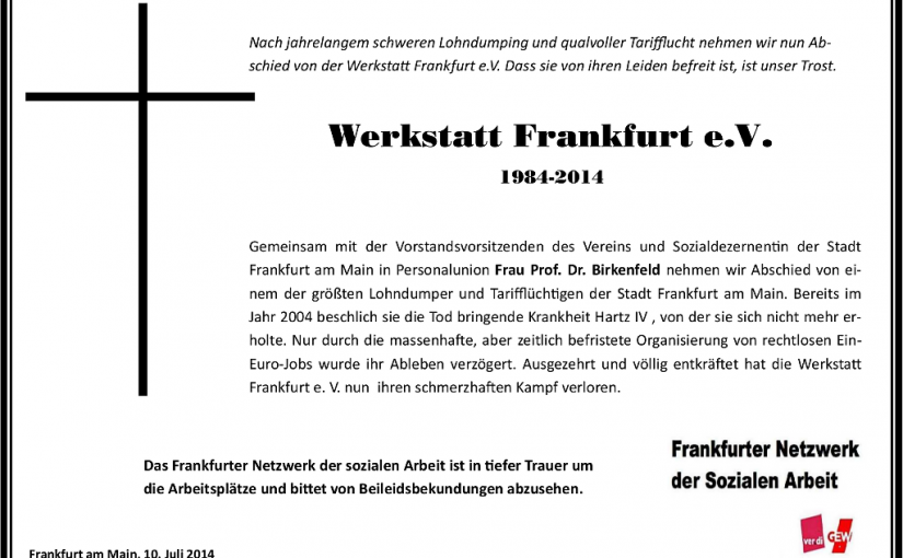 Werkstatt Frankfurt e.V. (1984-2014)