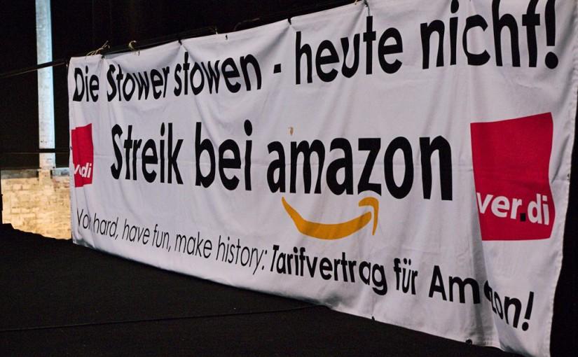 Netzwerk unterstützt streikende Amazon-Kolleg*innen