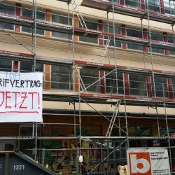 Druckraum Niddastraße, IDH-Aktion 23./24.05.2015